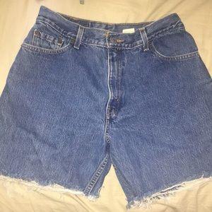 Custom cut LEVIS denim shorts